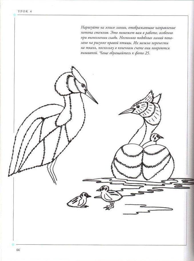 Схема вышивки птицы гладь 97
