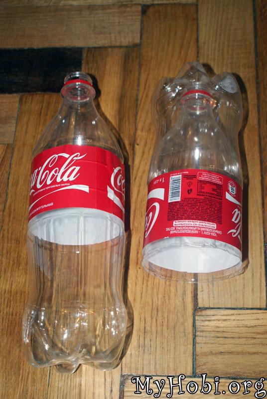 целую бутылку вставляем внутрь готовой конструкции