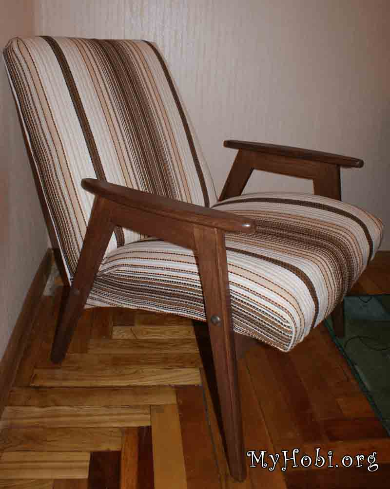 Ремонт своими руками старинного кресла 43