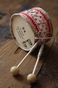 Барабан - делаем новогоднюю игрушку своими руками