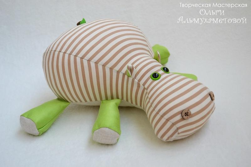 Бегемот подушка своими руками