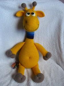 мастер-класс вязаная крючком игрушка радужный жираф - описание