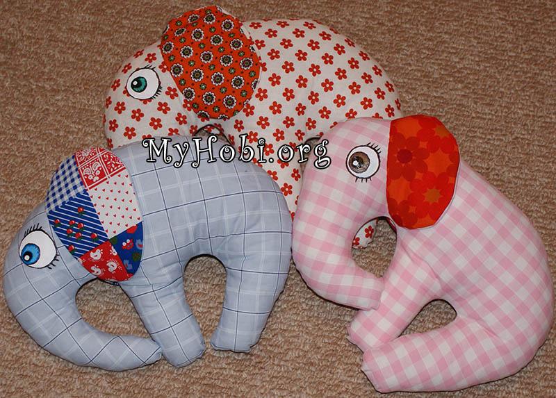 антиалергическая подушка-игрушка слоник