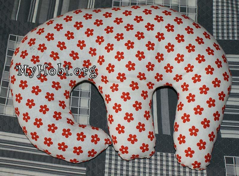подушка-обнималка слон своими руками