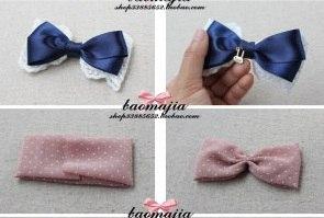 Как сделать бантик на волосы из ленты