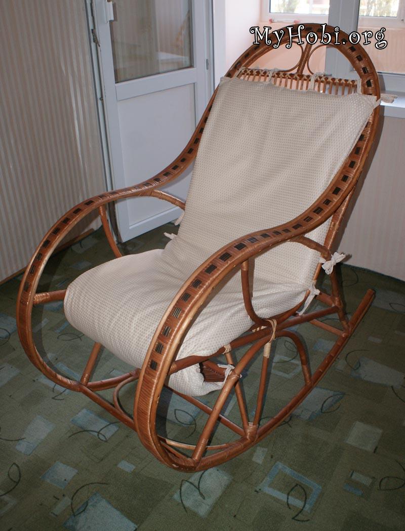схема размеров кресла качалки