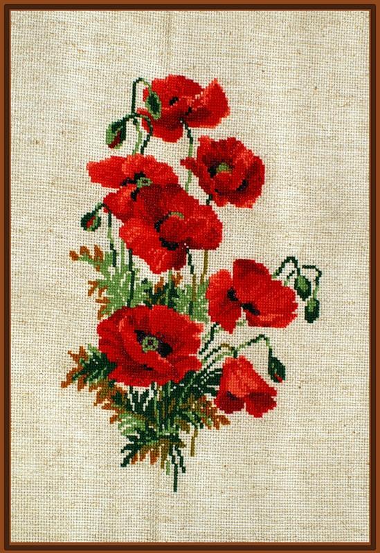 Вышивка цветка как символа