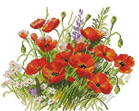Цветы в вышивке приметы