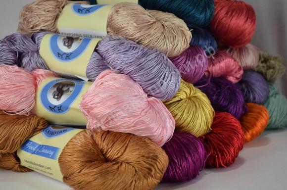 Шёлковые нитки для вязания