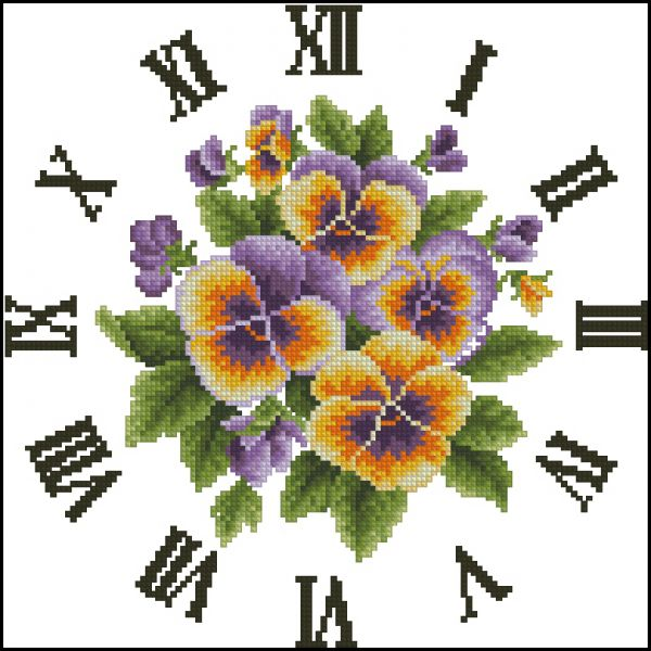 OTWO Special Pansies Clock
