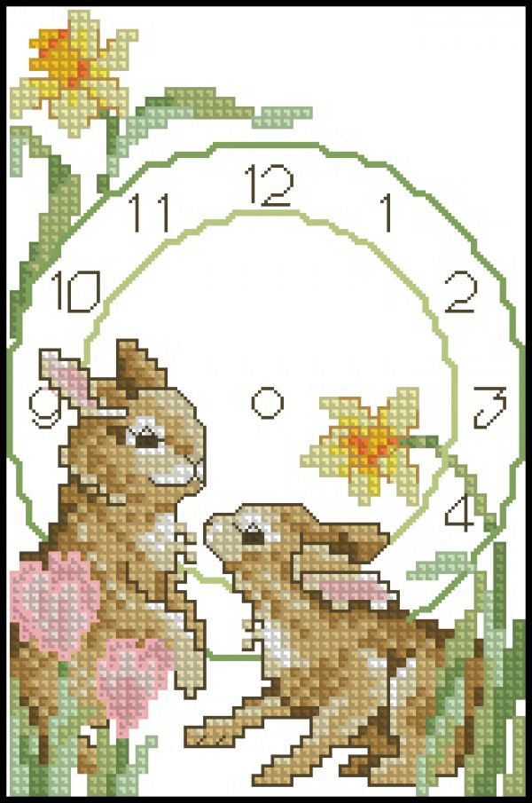 Sudberry16 Clocks-Bunnies