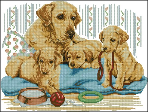 Anchor PCE810 Golden Labrador Family