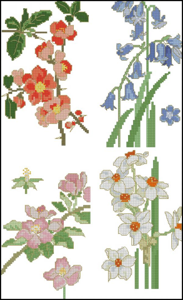 Cross Stitcher 2007-09(32) Floral Quartet