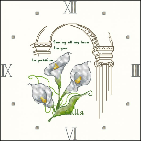 MF-102 Flower Collection 2 Cala Clock