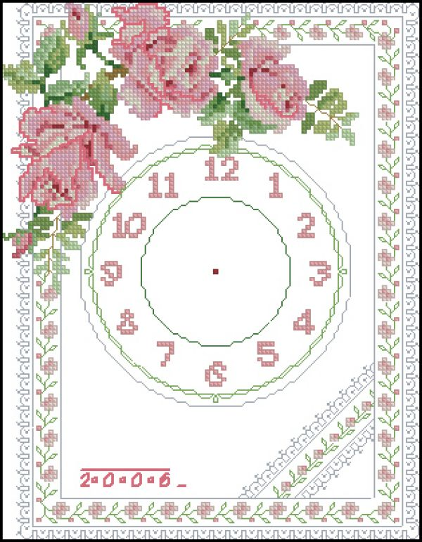 Sudberry11 Rose Clocks-Big Clock