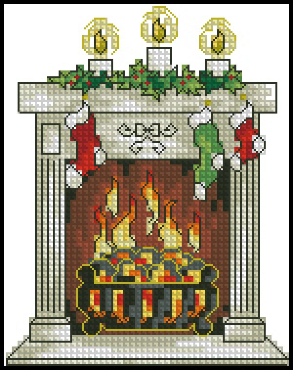 CS Card Shop Winter Cheer Blazing Hearth