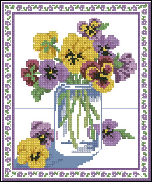 ASN3680 Country Bouquets - Pansies