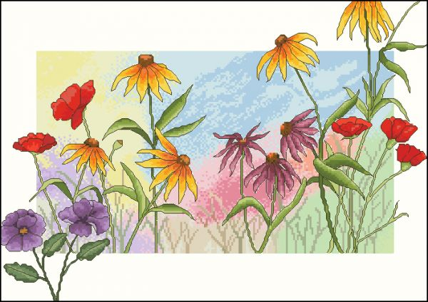 Cross my heart 257 Watercolor wildflowers
