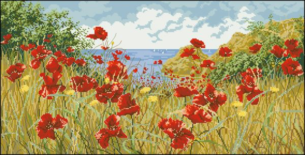 Anchor PC47989 Clifftop Poppies