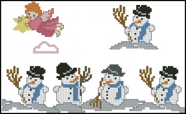 Snowman repeat band & cards