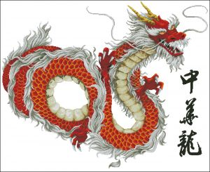 DOME 90604 Chinese map designed as Dragon