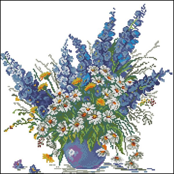 ChI V-050 Blue Bouquet