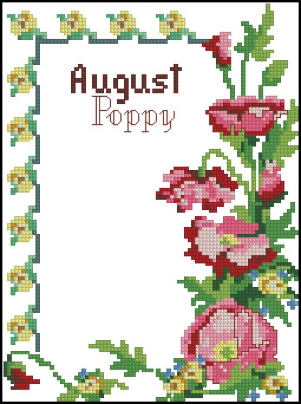 ASN8640 A Year of Flowers August