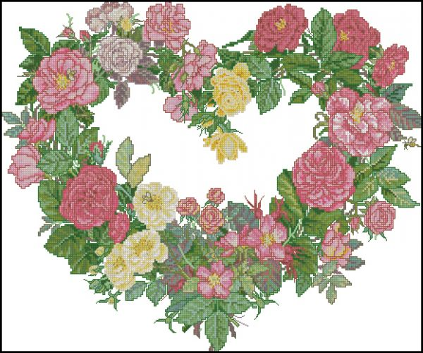 Bucilla 43515 Rose Heart Wreath