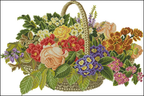 ER 14-186 Flowers in a Basket