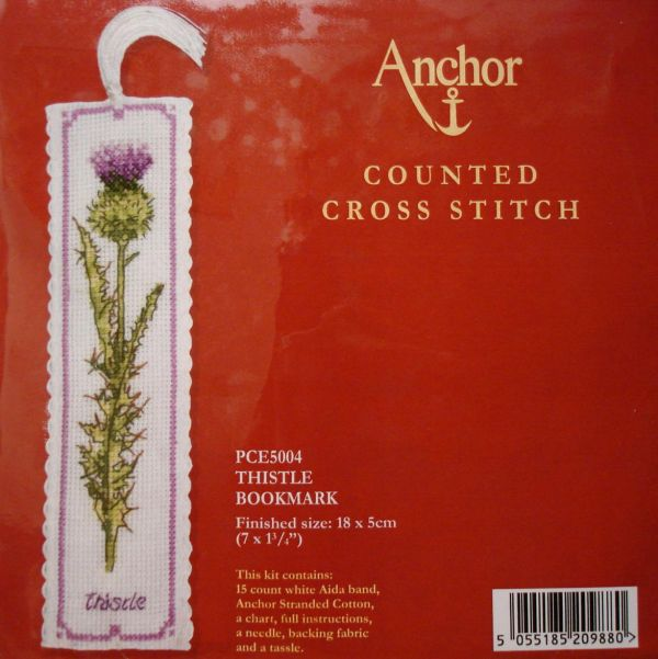 Anchor PCE5004 Thistle bookmark