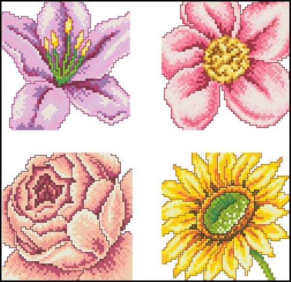 4 Floral Cards